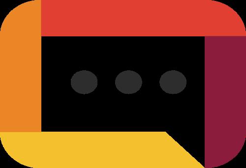 对话矢量logo框图标