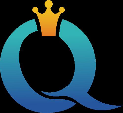 公主女王皇冠字母Q矢量logo图标素材