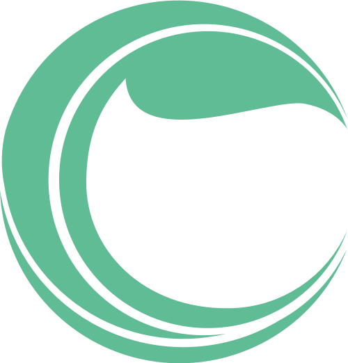绿色环保叶子与字母C矢量logo素材