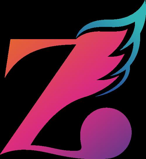 字母Z翅膀logo图标素材