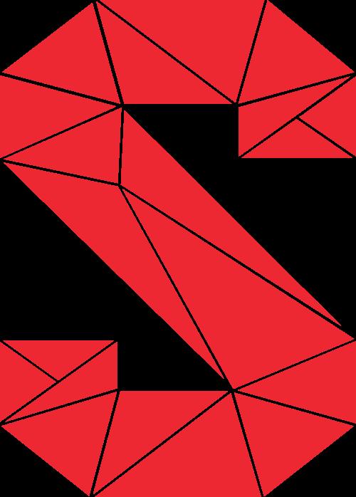 立体三角形拼块字母S矢量素材