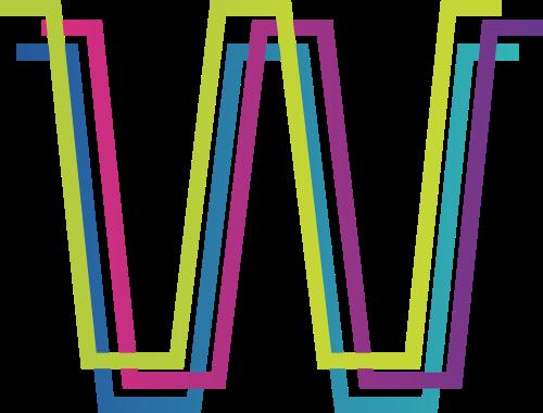 字母W矢量图标