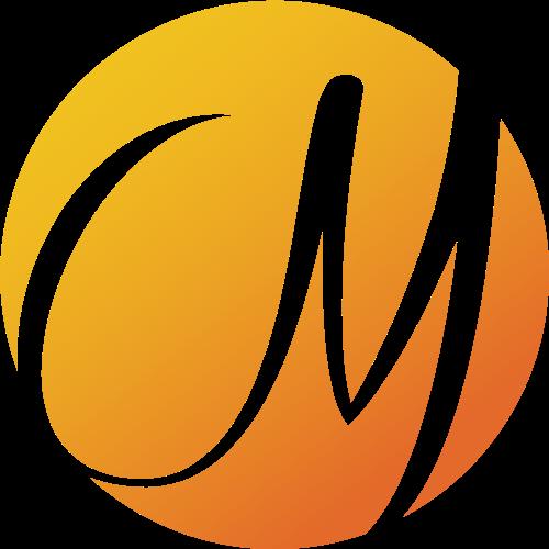 字母m球体图标素材logo