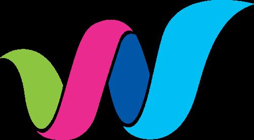 彩色字母w矢量图标素材