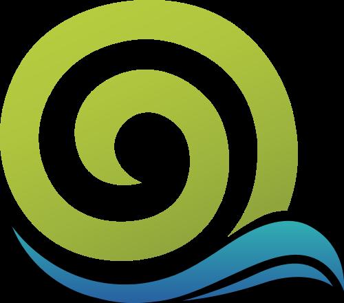 绿色蜗牛与字母Q矢量logo图标