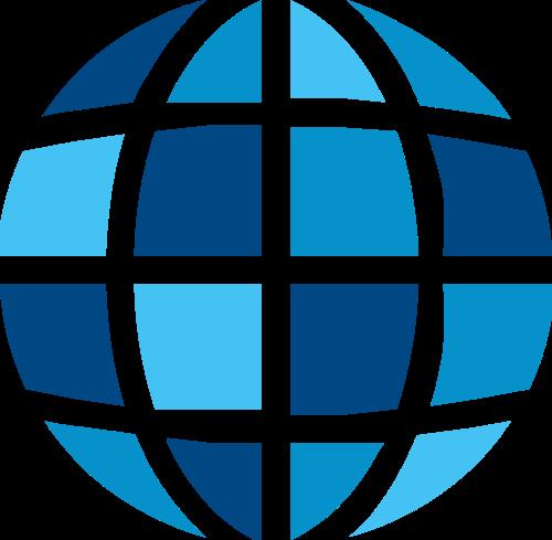 地球运输物流网络相关矢量图形