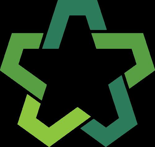 绿色星形矢量图标素材