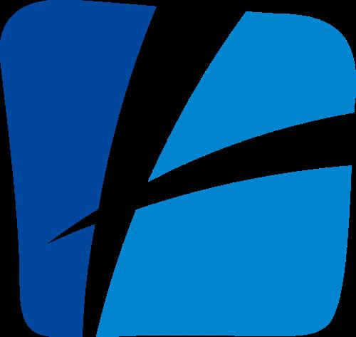 蓝色抽象方形矢量logo图标