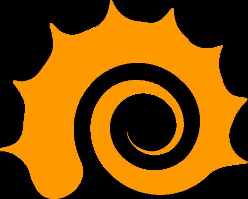海螺大海太阳相关矢量logo图形