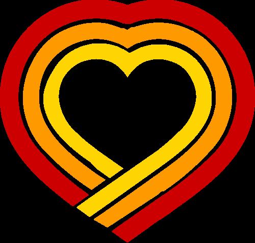 爱心矢量logo图形