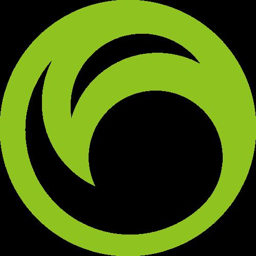 圆形绿叶矢量logo图形