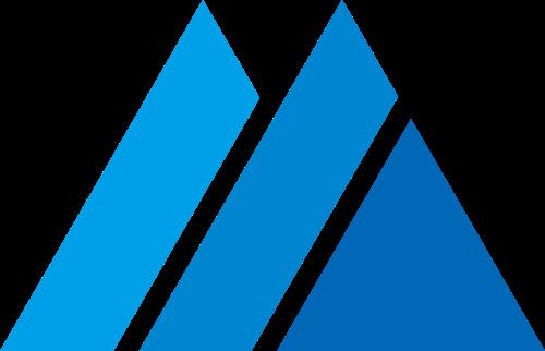 蓝色山峰字母M矢量图形