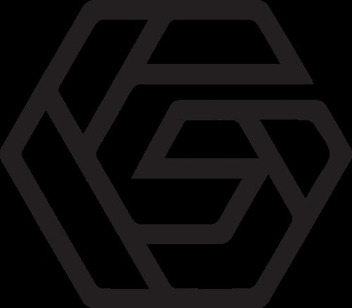字母G组成六边形矢量图形