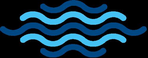蓝色波浪水波矢量图标