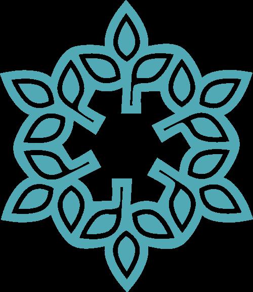 手工拼接花纹图案矢量logo图形