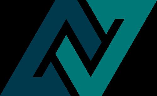字母N抽象矢量图形