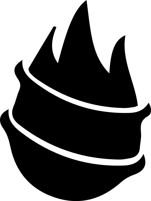 火苗卡通矢量logo图形模板