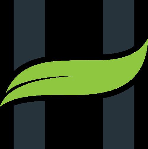 叶子字母H矢量logo模板素材