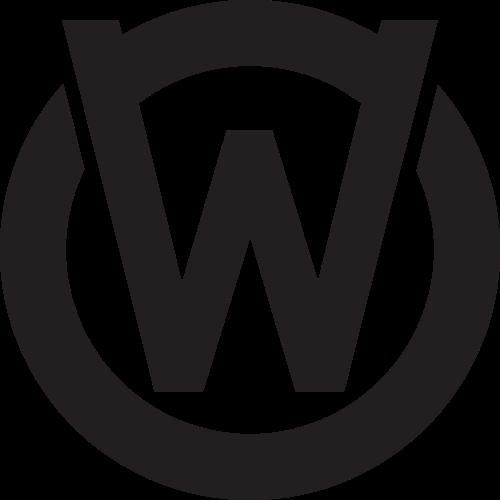 圆形字母W与logo图标模板