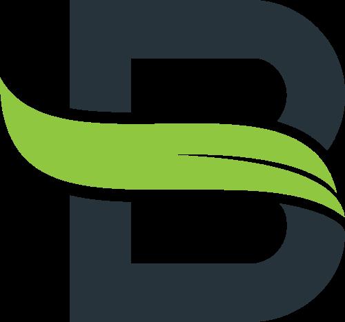 叶子字母B矢量图形