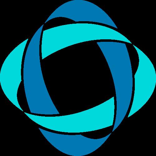 抽象环绕四边形矢量logo图形