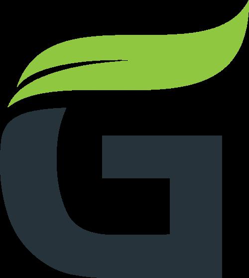 叶子字母G矢量图形logo素材