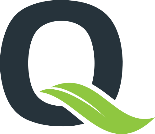 叶子字母Q矢量图形