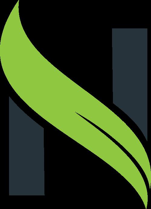 叶子字母N矢量图形