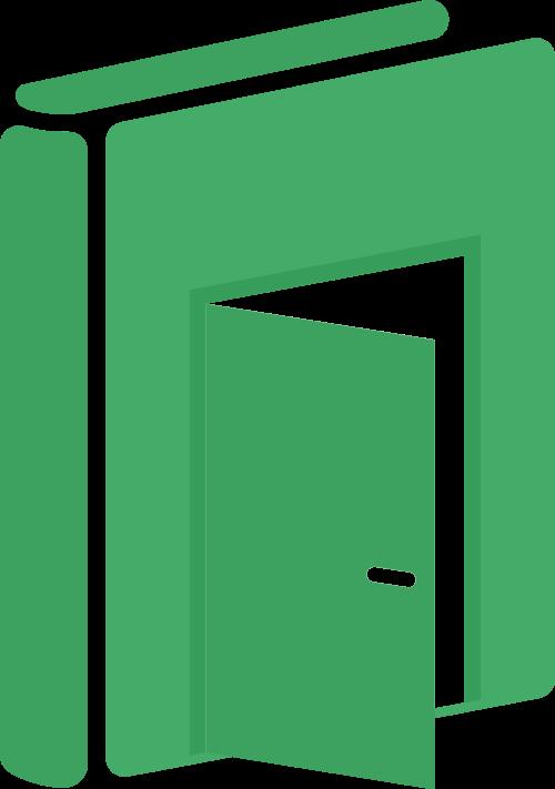 绿色书本教育之门矢量logo设计素材模板