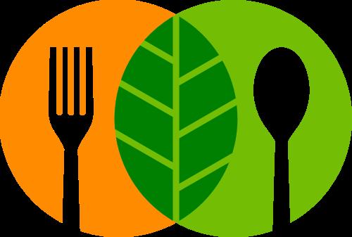 绿色健康餐饮矢量logo图形素材