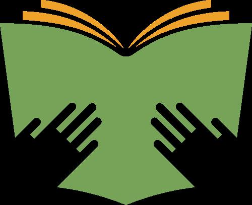 绿色书本教育读书logo图标素材