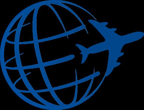 航空货运地球logo素材图标
