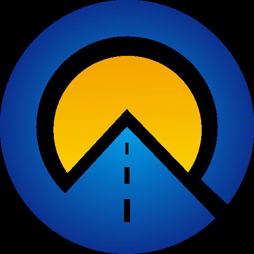 圆形道路交通矢量logo图标