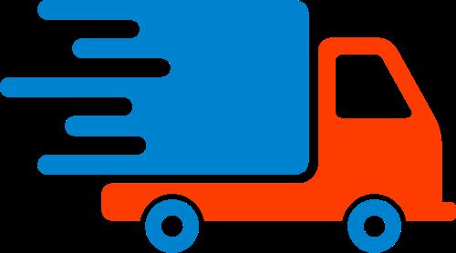 货车搬家货运小卡车矢量logo素材