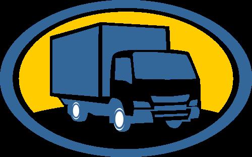 搬家卡车运输相关图标模板素材