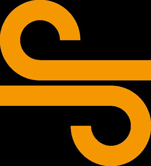 橙色音符矢量图形