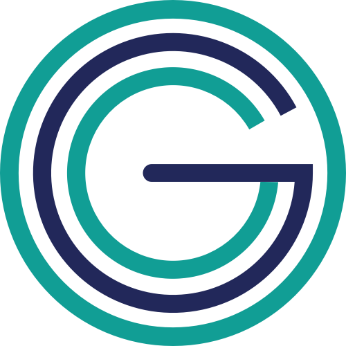 圆形字母G矢量图标