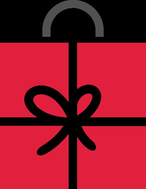 礼品购物袋logo素材图标