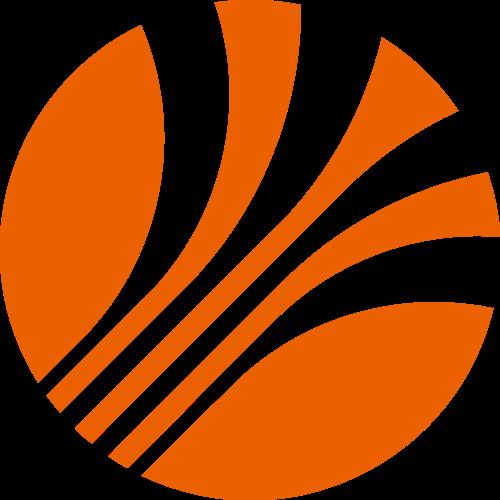 橙色圆形抽象logo素材