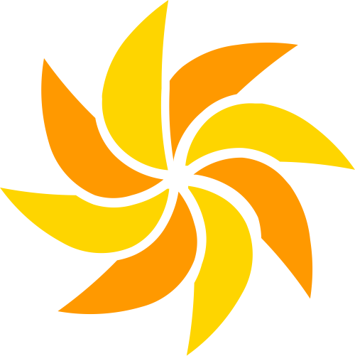 风车矢量logo图形