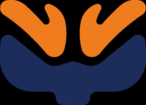 梅花鹿鹿茸矢量logo图标
