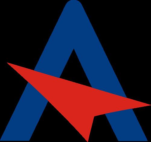 字母A箭头向上矢量logo图标