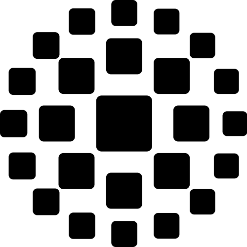 圆形数码方块圆点矢量图
