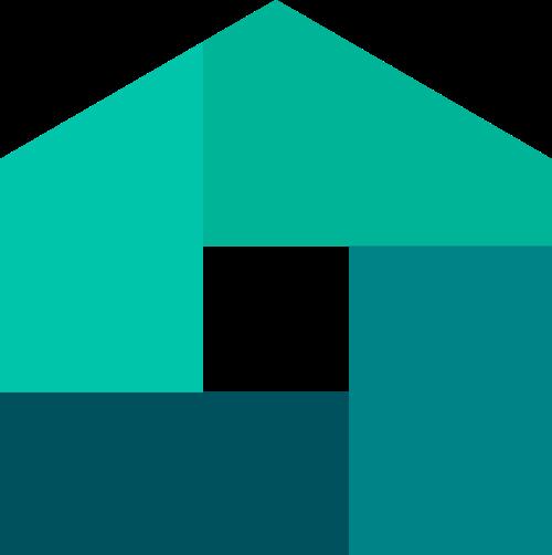 绿色地产房屋logo图标