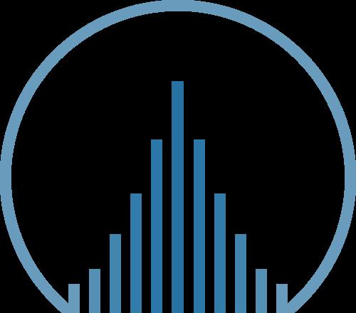 蓝色圆形抽象地产相关logo素材