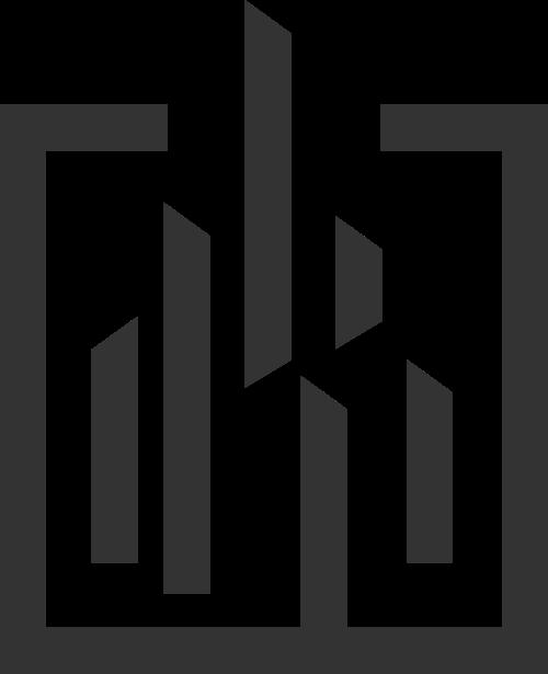 企业集团高楼矢量图标