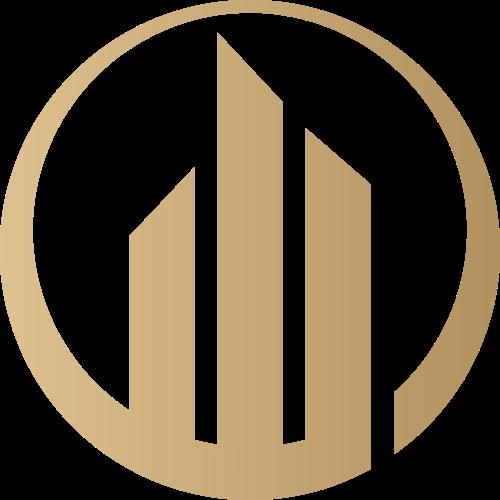 抽象圆形地产检查商务logo图标