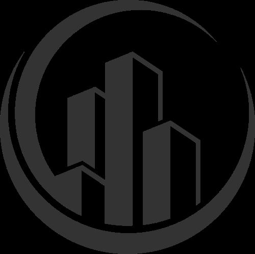 建筑施工高楼矢量图标