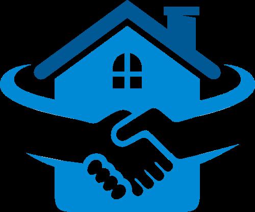 房屋中介交易握手logo素材