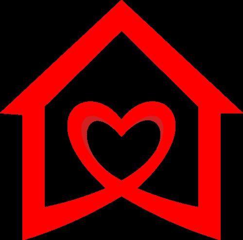 爱心家政房屋logo图标